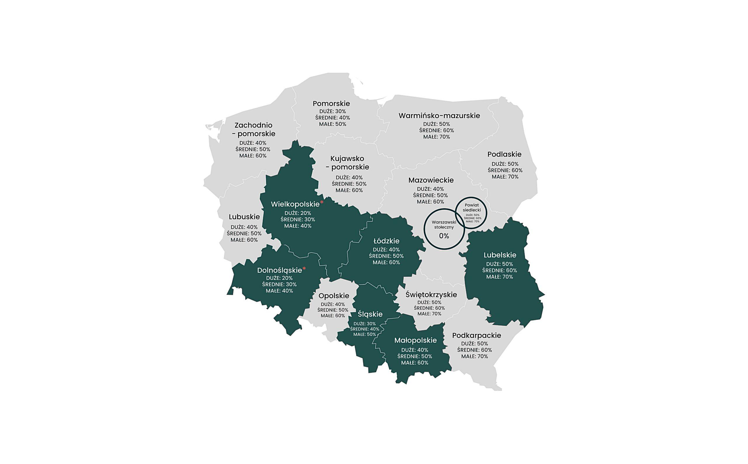 mapa pomocy regionalnej 2022-2027